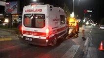 Otomobil ambulansa çarptı: 2 yaralı
