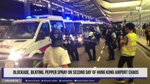Blockade, beating, pepper spray on second day of Hong Kong airport chaos