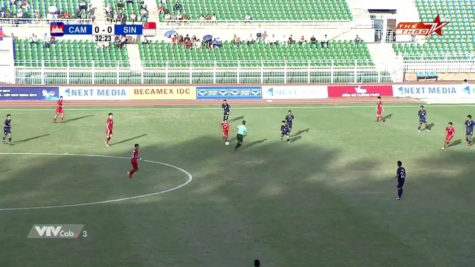 Live | U18 Cambodia - U18 Singapore | AFF U18 Next Media Cup 2019 | VFF Channel