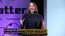 Jo Swinson 'ready to work with anyone' to stop no deal