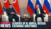 Kim, Putin exchange greetings on Korea's Liberation Day