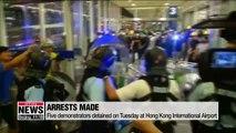 Hong Kong International Airport resumes flights after 2 days of mass disruption