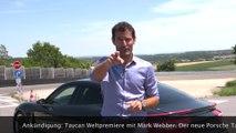 Porsche Taycan Weltpremiere mit Mark Webber