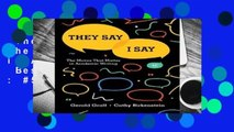 They Say / I Say: The Moves That Matter in Academic Writing  Best Sellers Rank : #5