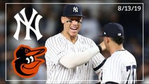 Baltimore Orioles @ New York Yankees _ Game Highlights _ 8_13_19
