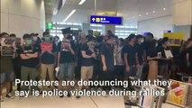 Protesters trigger second day of Hong Kong airport chaos