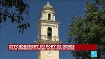 Italie: Regardez la minute de silence observée à Gênes, un an après l'effondrement du pont Morandi - VIDEO