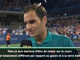 """Cincinnati - Federer : """"Heureux d'être de retour sur un court"""""""