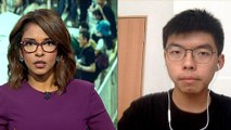Hong Kong: Joshua Wong calls on gov't to stop police brutality