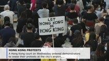 Hong Kong court bans protests from airport