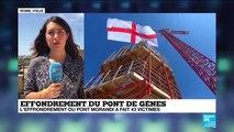 """""""Le temps des hommages en Italie"""", un an après l'effondrement du pont de Gênes"""