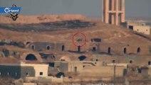 تدمير مدفع 57 مم لميليشيا أسد على محور تل مرق في ريف إدلب الجنوبي - سوريا
