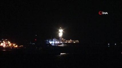 Zeytinburnu Açıklarında Çarpışan İki Gemi Böyle Görüntülendi