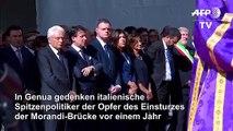 Italien gedenkt der Opfer des Brückeneinsturzes in Genua