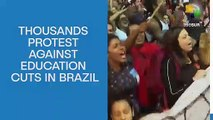 Thousands protest against education cuts in Brazil