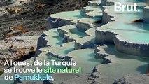 """Le """"château de coton"""", un site unique au monde situé en Turquie"""