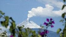 Meksika: Popocatepetl Yanardağı'nın patlama anı görüntülendi
