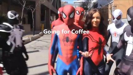 spider man morning coffee prank