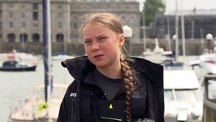 """Thunberg admits her journey is a """"big challenge"""""""