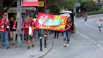SPOR Coşkulu Liverpool taraftarları stada hareket etti