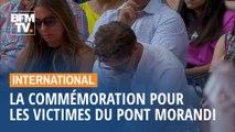 Un an après, l'Italie et les proches des victimes commémorent l'effondrement du pont Morandi
