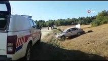 Kontrolden çıkan otomobil tarlaya uçtu: 4 yaralı