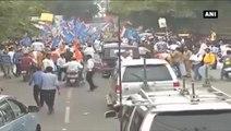 Rahul Gandhi Kisan Yatra- Congress VP Stages Roadshow