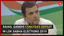 Rahul Gandhi concedes loss in Lok Sabha Elections 2019 and in Amethi
