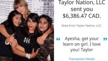 Taylor Swift surprises fan by sending her more than $6,000 for tuition