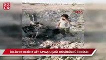 İdlib'de rejime ait savaş uçağı düşürüldü iddiası