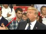 Les réactions de cet homme lors d'un meeting de Trump ont ravi les opposants du président