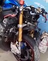 La moto d'Arafat DJ après l'accident