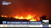 Vent, zone escarpée, végétation sèche... Les pompiers de l'Hérault rencontrent de nombreux obstacles pour éteindre l'incendie