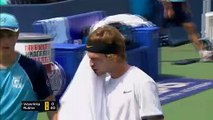 Qualifier Andrey Rublev beats Stanislas Wawrinka in Cincinnati second round