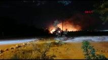 Nusaybin'de eski gümrük kapısında yangın