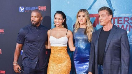 Proud Dads Jamie Foxx and Sylvester Stallone Support Their Daughters' Movie Premiere