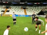 Kazakh boy born without legs plays keepy-uppy with Mo Salah