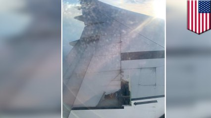Metal wing covering falls off China Eastern Airlines after takeoff