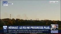 Dans l'Hérault, le feu ne progresse plus, grâce à l'intervention de 450 pompiers