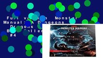 Full version  Monster Manual: A Dungeons   Dragons Core Rulebook  Best Sellers Rank : #4