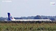 Russian plane crash-lands in field after birdstrike, no casualties reported