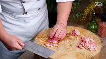 Amazing Knife Skills - Cutting Eggplant l Eggplant recipes by Masterchef