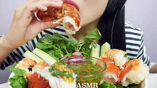 04.ASMR Giant Shrimp & Lobster with Spicy Seafood Sauce (EATING SOUNDS) NO TALKING  SAS-ASMR