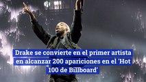 Drake se convierte en el primer artista en alcanzar 200 apariciones en el 'Hot 100 de Billboard'