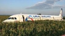 Moskova'da kuş sürüsüne çarpan yolcu uçağı mısır tarlasına acil iniş yaptı: 23 yaralı