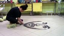 Kuzey Makedonyalı kuaför müşterilerin saçlarıyla ünlü isimlerin portrelerini çiziyor