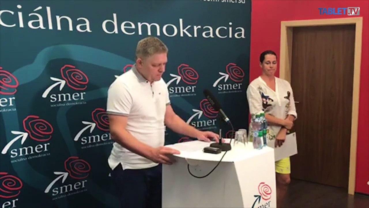ZÁZNAM: TK predsedu strany Smer-SD Roberta Fica