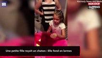 Une petite fille reçoit un chaton : Elle fond en larmes (vidéo)