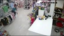 Hırsızlık anı güvenlik kamerasına yansıdı