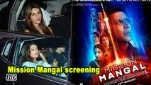 Kriti Sanon, Bhumi Pednekar attend Mission Mangal screening